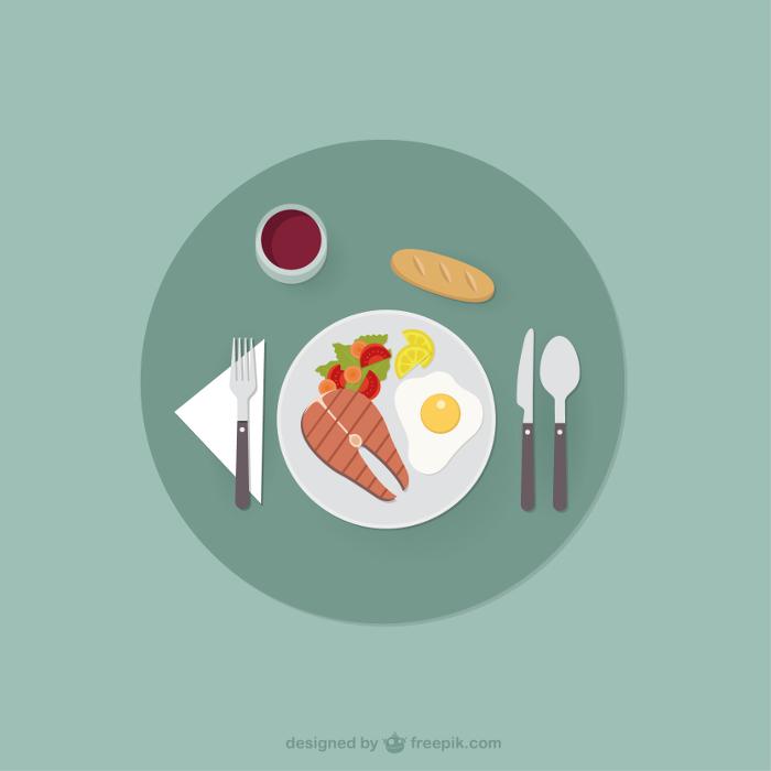 alimentação-para-ganhar-massa-muscular-vetor