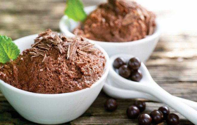Mousse de chocolate fit